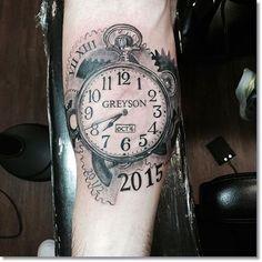 Clock Tattoo Designs - MyTattooLand