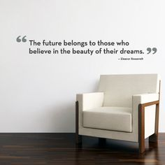 The Future Belongs Quote Lettering Decal - Vinyl Wall Decal. $28.00, via Etsy.