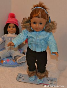 make a snowboard for dolls