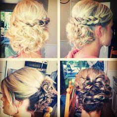 Half  curls Half braid Half Braid, Formal Hairstyles, Cute Hairstyles, Wedding Hairstyles, Hair Dos, Updos, Hair And Nails, Your Hair, Curls