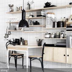 #String: Das #Regalsystem ist auch aus der Küche nicht wegzudenken