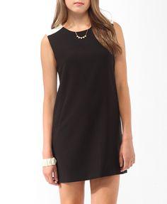 Colorblocked Pocket Shift Dress (Black/White). Forever 21. $22.80