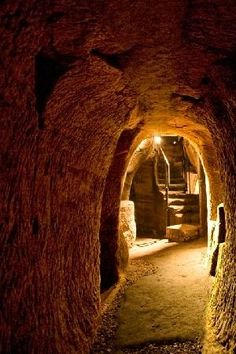 Gilmerton Cove is a series of chambers and passageways lying hidden beneath the streets on the South side of Edinburgh, Scotland