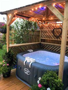 Backyard hot tub patio jacuzzi Ideas for 2020 Hot Tub Gazebo, Hot Tub Backyard, Hot Tub Garden, Garden Gazebo, Pool Gazebo, Backyard Patio, Large Backyard, Small Garden Hot Tub Ideas, Hot Tub Patio On A Budget