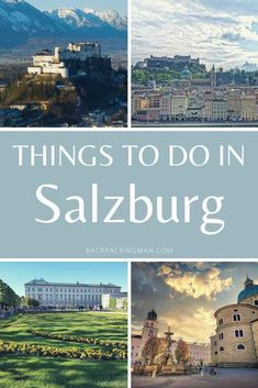 11 Best Things To Do In Salzburg (Austria) Road Trip Europe, Europe Travel Guide, Travel Destinations, Visit Austria, Austria Travel, European Vacation, European Travel, Travel Around The World, Around The Worlds