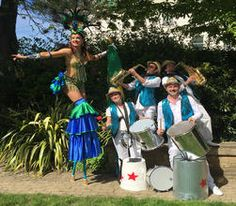 Book carnival drummers. Hire our junk percussionists for carnival-themed events & functions in the UK & Brighton.