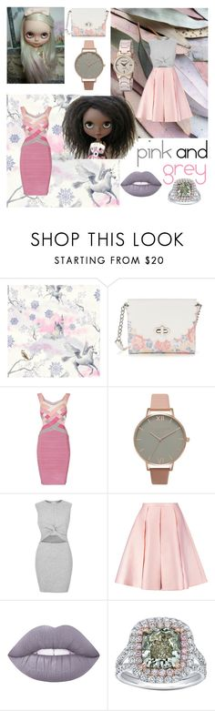 """""""pink & grey"""" by beanpod ❤ liked on Polyvore featuring Candie's, Olivia Burton, River Island, Emilia Wickstead, Lime Crime, Tamir and Armitron"""