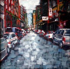"""Soho Street"" - Original Fine Art for Sale - © Amy Stewart"