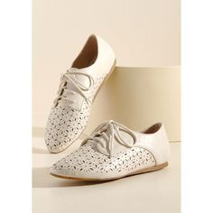 737520abff95f6 Just Gotta Vent Oxford Flat ( 30) ❤ liked on Polyvore featuring shoes
