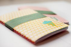 2 Notebooks Leaf and Raindrop print, lined via Etsy.