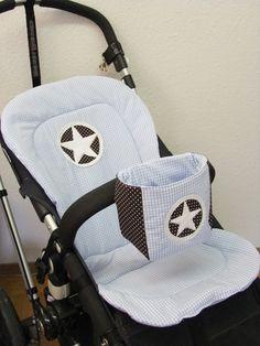Kinderwagenbezüge - Kinderwagen Sitzauflage und Utensilo - ein Designerstück von Cameleon-Style bei DaWanda