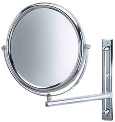 3 times magnification vertical sliding Chrome wall mount magnifying mirror.
