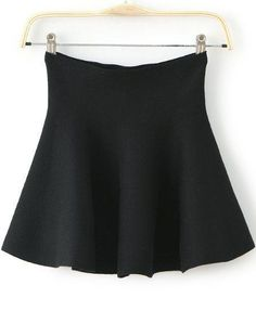Black High Waist Ruffle Flare Skirt 12.67