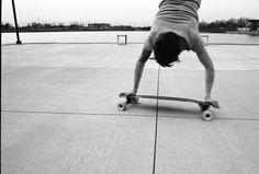 longboard handstand