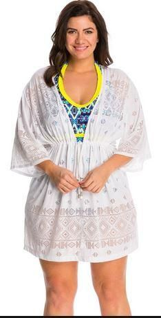 d9d4c6ed89 Dotti Plus Crochets Tribal Times Tunic Cover Up Spend a day at the beach or  pool side wearing this gorgeous sleeved crochet kimono style cover up with  ...
