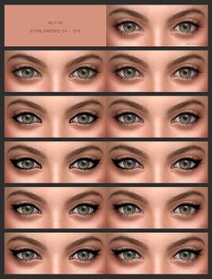 Eyeliners   eyebrows at Alf-si • Sims 4 Updates