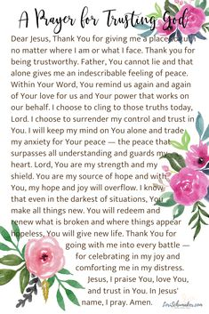 15 Inspirational Bible Verses About Trusting God | Lori Schumaker 15 Inspirational Bible Verses About Trusting God I have often turned to in my faith journey. As well as a scripture-based Prayer to Trust God. Prayer Verses, Bible Verses, Verses About Trust, Christian Faith, Christian Living, Learning To Pray, Lord Is My Strength, Inspirational Verses, Do Not Fear