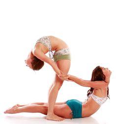 Partner yoga. I need a partner to help me stretch!