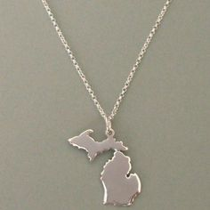 State of Michigan Necklace with Upper Peninsula