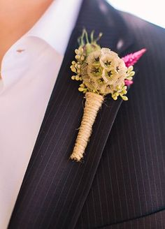 boutonniere idea | Courtney Stockton Photography | http://www.theknot.com/weddings/album/a-romantic-italian-inspired-wedding-at-annadel-estate-winery-in-santa-rosa-california-176973