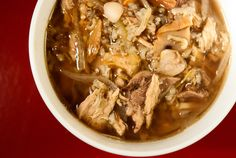 Grouse soup with wild rice, An ode to the woods: Grouse soup with acorns and wild rice. A very earthy, wintry dish.