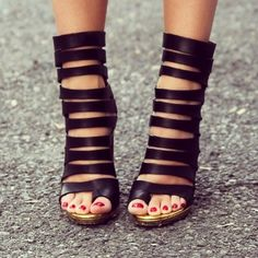 Lusting after these strappy sandals