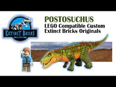 POSTOSUCHUS LEGO Compatible Custom - Extinct Bricks Original #LEGO #JURASSICWORLD #POSTOSUCHUS - YouTube Jurassic World Dinosaurs, Jurassic Park World, Lego Dinosaur, Amazing Lego Creations, Artwork For Home, Lego House, Lego Stuff, Paw Patrol, Lego Sets