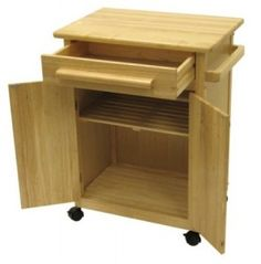Winsome Wood Single Drawer Kitchen Cabinet Storage Cart, Natural Perfect for small kitchens where every space has to serve double duty, Winsome Wood's single Cheap Kitchen Islands, Cheap Kitchen Cabinets, Kitchen Furniture, Furniture Storage, Furniture Ideas, Kitchen Storage Cart, Kitchen Drawers, Kitchen Cart, Storage Trolley