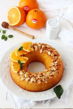 Ciambella all'arancia con mandorle e miele - Deliziosa Virtù