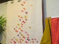 triangle butterfly quilt! Butterfly Quilt, Quilting, Sewing, Needlework, Sew, Patchwork, Stitching, Quilts, Costura