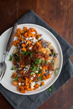 """Roasted Sweet Potato Huevos Rancheros"" 