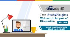 Join college webinar and discuss more about education that help you to choose right career path with Study Heights.