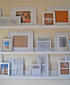 Ana White Build a Ten Dollar Ledges Free and Easy DIY Project and Furniture Plans Home Goods Decor, Diy Home Decor, Picture Ledge, Photo Ledge, Picture Shelves, 10 Picture, Photo Wall, Picture Frames, Photo Shelf