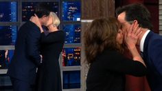 Stephen Colbert's Wife's Reaction to Recent Kissing...: Stephen Colbert's Wife's Reaction to Recent Kissing Spree #JerrodCarmichael…