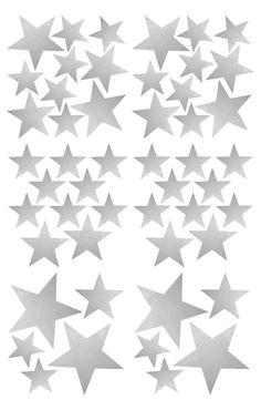 Naklejki ścienne gwiazdy - srebrne Kalaluszek