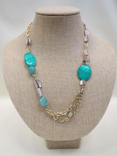 ADO | Green & Gold Necklace