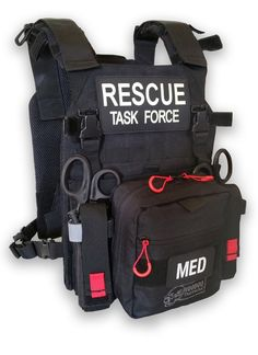 The new Rescue Task Force RAPID Vest is designed to provide maximum flexibility in configuring your vest to specific needs. Tactical Medic, Tactical Vest, Combat Medic, Combat Gear, Emergency Medical Services, Tac Gear, Tactical Equipment, Military Gear, Search And Rescue