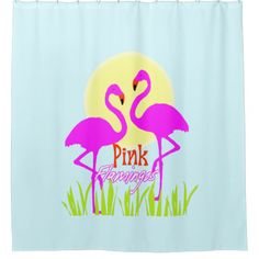 Trendy, Cute And Very Summery Text And Graphic Fun Bathroom Accessories  With Two Exotic Pink