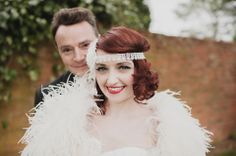 This wedding is a cross between 1920s flapper style and 1950s rock and roll. Look at how happy this couple is.