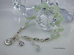 Mint Bracelet Spiral Rope Bracelet Beaded by TheLittleEmptyNest