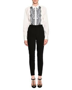 Blouse+&+Trousers+by+Dolce+&+Gabbana+at+Bergdorf+Goodman.