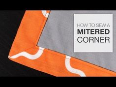 How to Sew a Mitered Corner - YouTube--new to me! Different method than the way…