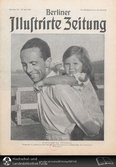 Berliner illustrirte Zeitung, 1935, Nr. 30 - Joseph Goebbels and daughter on the cover