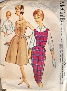 Hard to Find Vintage 60s McCall's 5938 Misses and by scarlettess