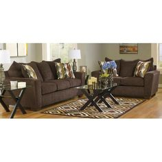 Leather Fabric Combo Sectional Decor Ideas Pinterest