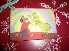 Grinch Christmas Tags  -  Grinch and Dog and Santa Suit - Dr. Seuss -  Wish Tree Tags - Sweet - Set of Six. $4.50, via Etsy.