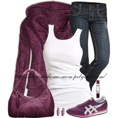 """AE Marled Popover Hoodie Sweater"" by stay-at-home-mom on Polyvore"