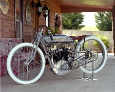 Classic Motorcycle Photograph - Harley Davidson 8 Valve Racer