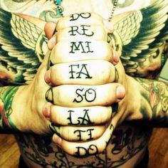 Men's Music Tattoos - Hands