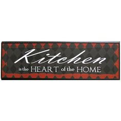 Black & Red Kitchen is the Heart of the Home Framed Wall Art | Shop Hobby Lobby